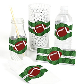 End Zone - Football - DIY Party Wrappers - 15 ct