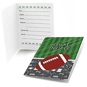 End Zone - Football - Fill in Party Invitations - 8 ct