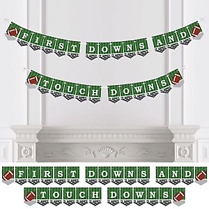 End Zone - Football - Baby Shower or Birthday Party Bunting Banner - Party Decorations - First Downs and Touch Downs