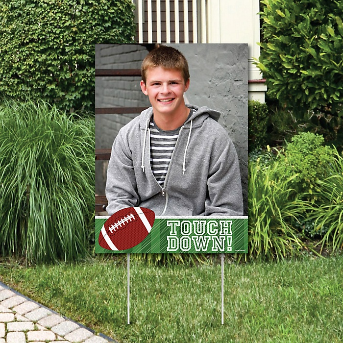 End Zone - Football - Photo Yard Sign - Baby Shower or Birthday Party Decorations