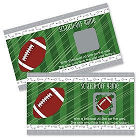 End Zone - Football - Baby Shower Game Scratch Off Cards - 22 ct