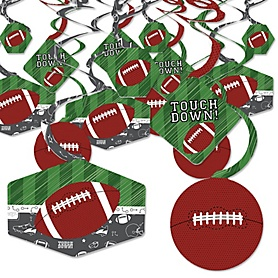 End Zone - Football - Baby Shower or Birthday Party Hanging Decor - Party Decoration Swirls - Set of 40