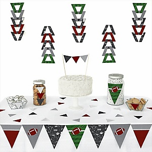End Zone - Football - 72 Piece Triangle Party Decoration Kit