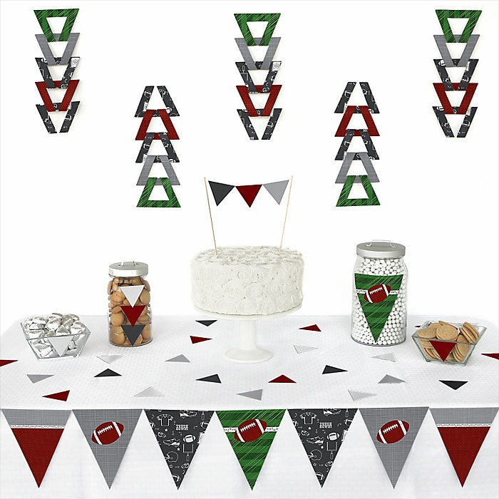 End Zone - Football -  Triangle Party Decoration Kit - 72 Piece