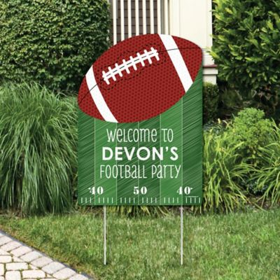 End Zone   Football   Party Decorations   Birthday Party Or Baby Shower  Personalized Welcome Yard