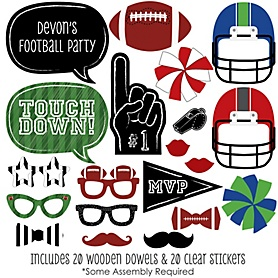 End Zone - Football - 20 Piece Photo Booth Props Kit