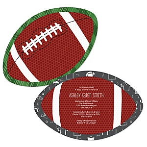 End Zone - Football - Shaped Baby Shower Invitations