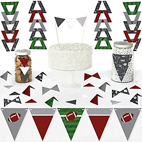 End Zone - Football - DIY Pennant Banner Decorations - Baby Shower or Birthday Party Triangle Kit - 99 Pieces