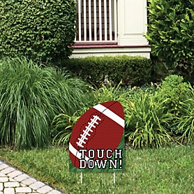 End Zone - Football - Outdoor Lawn Sign - Baby Shower or Birthday Party Yard Sign - 1 Piece