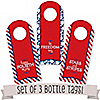 4th of July  - Set of 3 Wine Bottle Tag