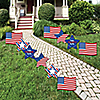 4th of July - Flag and Star Lawn Decorations - Outdoor Fourth Of July Party Yard Decorations - 10 Piece