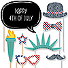 4th of July - Holiday Party 20 Piece Photo Booth Props Kit