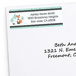 Mr. Foxy Fox - Personalized Baby Shower Return Address Labels - 30 ct