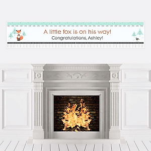 Mr. Foxy Fox - Personalized Baby Shower Banners