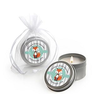 Mr. Foxy Fox - Candle Tin Personalized Baby Shower Favors