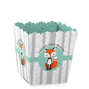 Mr. Foxy Fox - Party Mini Favor Boxes - Personalized Baby Shower Treat Candy Boxes - Set of 12