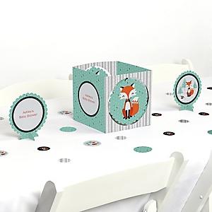 Mr. Foxy Fox - Baby Shower Centerpiece & Table Decoration Kit