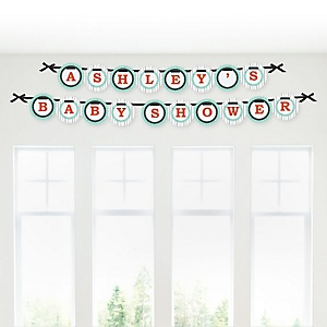 Mr. Foxy Fox - Personalized Baby Shower Garland Letter Banners