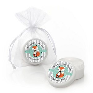 Mr. Foxy Fox - Personalized Baby Shower Lip Balm Favors - Set of 12