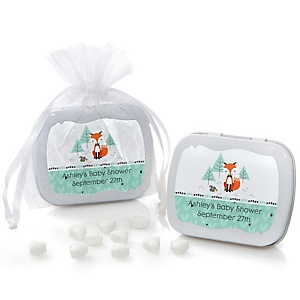 Mr. Foxy Fox - Personalized Baby Shower Mint Tin Favors