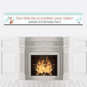 Mr. Foxy Fox - Personalized Birthday Party Banners