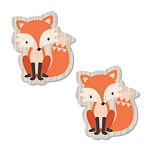 Fox - DIY Shaped Baby Shower or Birthday Party Cut-Outs - 24 ct