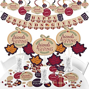 Friends Thanksgiving Feast - Friendsgiving Party Supplies - Banner Decoration Kit - Fundle Bundle