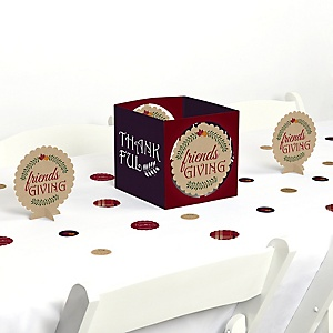 Friends Thanksgiving Feast - Friendsgiving Centerpiece and Table Decoration Kit
