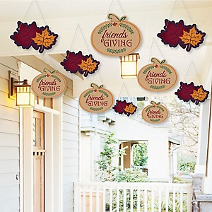Hanging Friends Thanksgiving Feast - Outdoor Friendsgiving Party Hanging Porch & Tree Yard Decorations - 10 Pieces