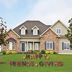 Friends Thanksgiving Feast - Yard Sign Outdoor Lawn Decorations - Friendsgiving Party Yard Signs - Happy Friendsgiving
