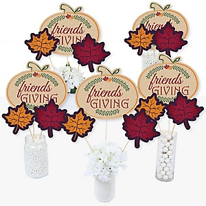 Friends Thanksgiving Feast - Friendsgiving Party Centerpiece Sticks - Table Toppers - Set of 15
