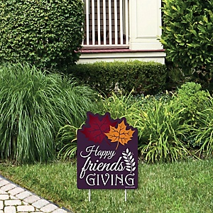 Friends Thanksgiving Feast  - Outdoor Lawn Sign - Friendsgiving Party Yard Sign - 1 Piece