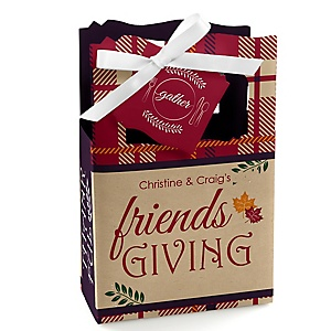 Friends Thanksgiving Feast - Personalized Friendsgiving Party Favor Boxes - Set of 12