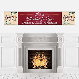 Friends Thanksgiving Feast - Personalized Friendsgiving Party Banner