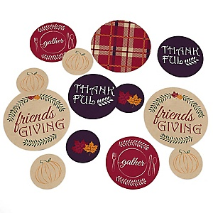 Friends Thanksgiving Feast - Friendsgiving Party Giant Circle Confetti - Party Decorations - Large Confetti 27 Count