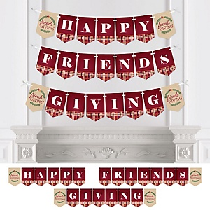 Friends Thanksgiving Feast - Personalized Friendsgiving Party Bunting Banner & Decorations
