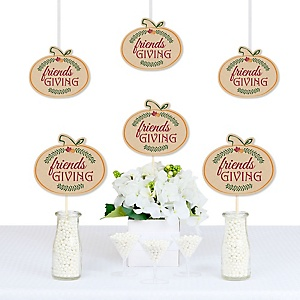 Friends Thanksgiving Feast - Pumpkin Decorations DIY Friendsgiving Party Essentials - Set of 20