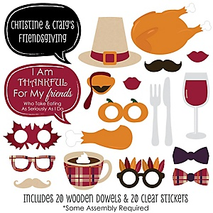Friends Thanksgiving Feast - 20 Piece Friendsgiving Photo Booth Props Kit