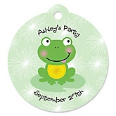 Froggy Frog - Round Personalized Party Tags - 20 ct