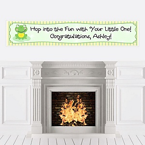 Froggy Frog - Personalized Baby Shower Banners