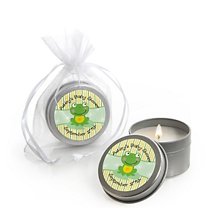 Froggy Frog - Personalized Baby Shower Candle Tin Favors - Set of 12