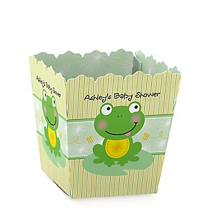 Froggy Frog - Party Mini Favor Boxes - Personalized Baby Shower Treat Candy Boxes - Set of 12