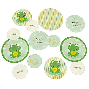 Froggy Frog - Personalized Baby Shower Table Confetti - 27 ct