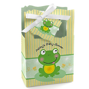 Froggy Frog - Personalized Baby Shower Favor Boxes - Set of 12