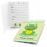 Froggy Frog - Baby Shower Fill In Invitations - 8 ct