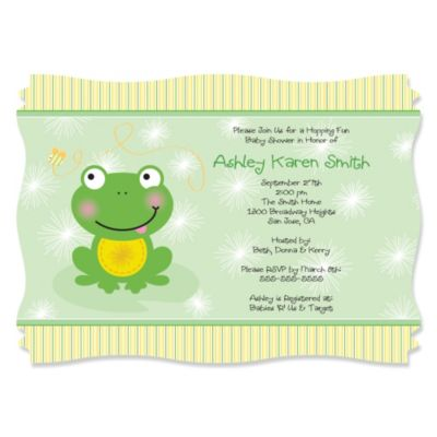 Froggy Frog Baby Shower Theme BigDotOfHappinesscom