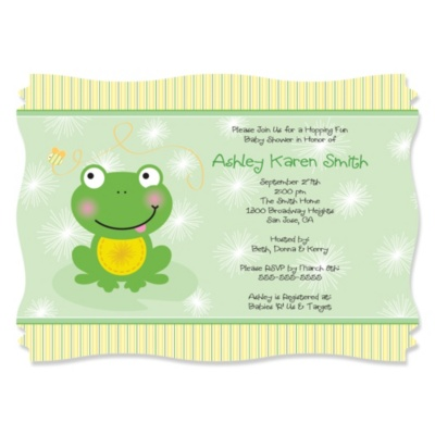 Froggy Frog Baby Shower Theme Bigdotofhappiness Com