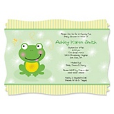 Froggy Frog - Personalized Baby Shower Invitations