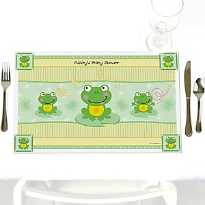 Froggy Frog - Personalized Baby Shower Placemats