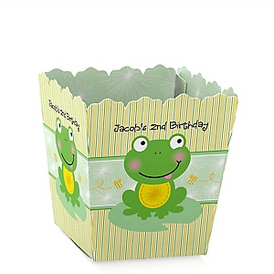 Froggy Frog - Party Mini Favor Boxes - Personalized Birthday Party Treat Candy Boxes - Set of 12